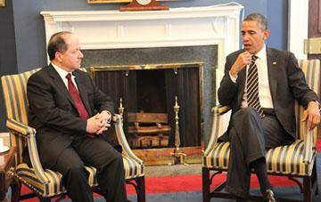 Hevdîtina Serok Barzanî û Serok Obama li Qesra Spî